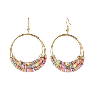 Multi Disc Hoop Earrings