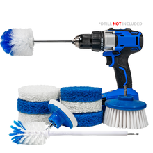 Load image into Gallery viewer, RotoScrub 10-Pc All-in-One Home Cleaning Drill Accessory Combo Kit