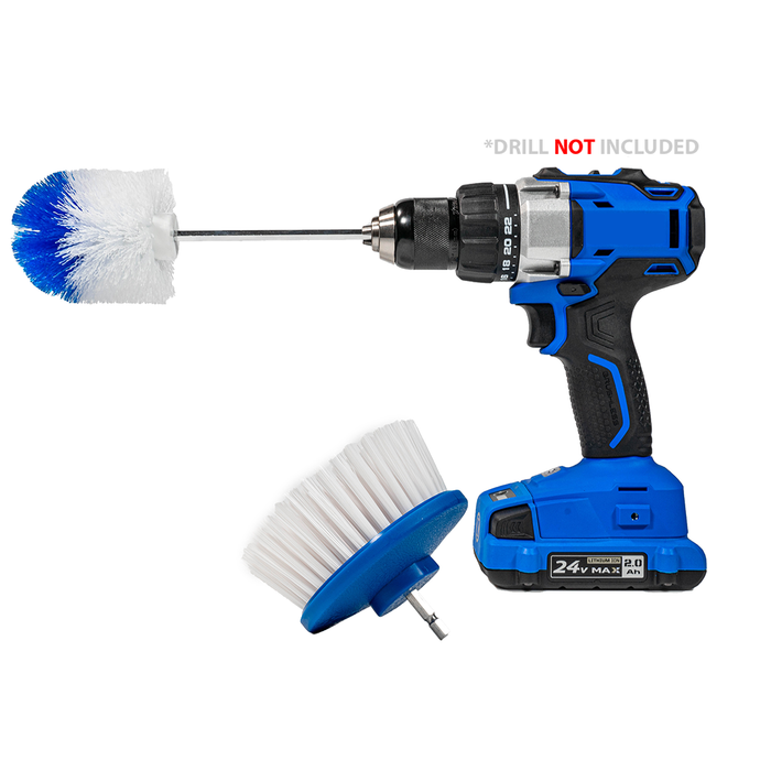 2-Brush Combo Kit - Drill Powered Scrub Brush + Corners and Edges Brush