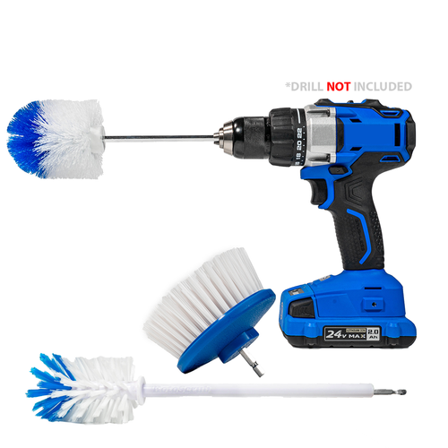 RotoScrub 3 Drill Brush Automotive Combo Kit
