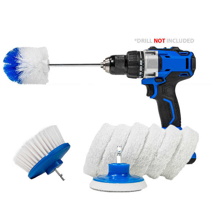 RotoScrub Boat Cleaning Drill Accessory Combo Kit