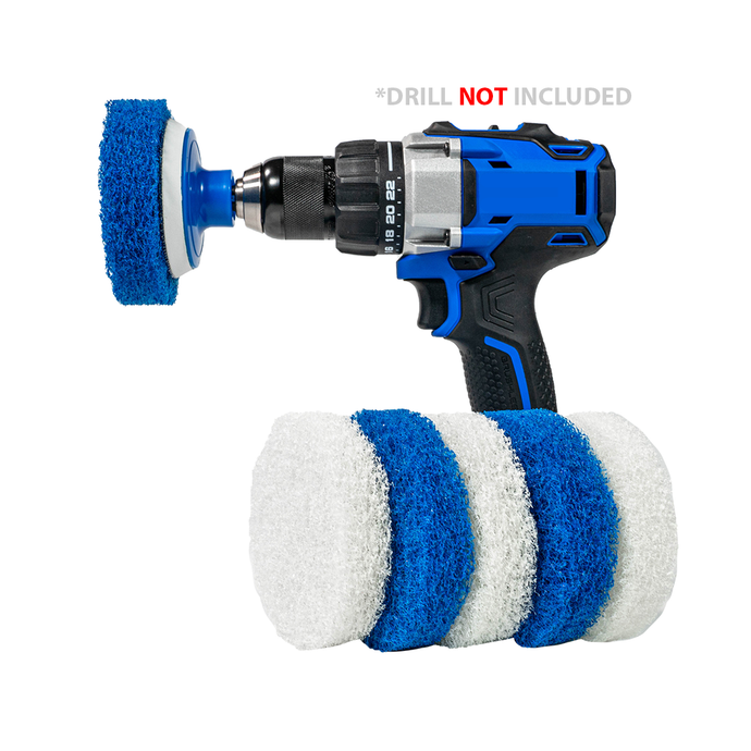 Bathroom Cleaning Scrub Pads - Drill Accessory Kit
