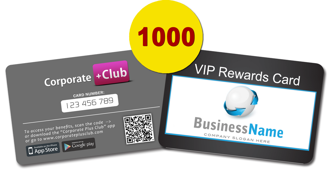1000 Corporate+Club Cards