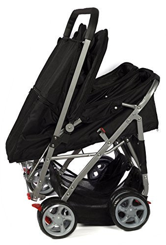 OxGord Double Pet Stroller For Cats, Dogs and Other Household Animals