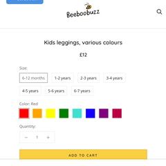 Beeboobuzz colour swatches