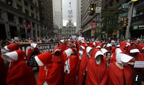 Protests against Trump handmaid's Tale costume