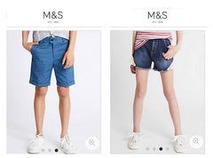 Unisex childrens shorts marks and spencer image