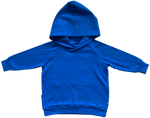 plain coloured bright blue kids children's hoodie organic cotton unisex gender neutral