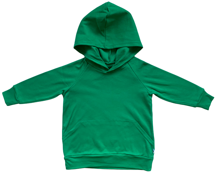 plain coloured bright green kids children's hoodie organic cotton unisex gender neutral