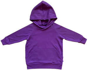 plain coloured bright purple kids children's hoodie organic cotton unisex gender neutral