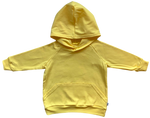 plain coloured bright yellow kids children's hoodie organic cotton unisex gender neutral