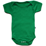 plain coloured bright green short sleeve baby vest bodysuit organic cotton unisex gender neutral