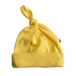 plain coloured bright yellow baby hat organic cotton unisex gender neutral