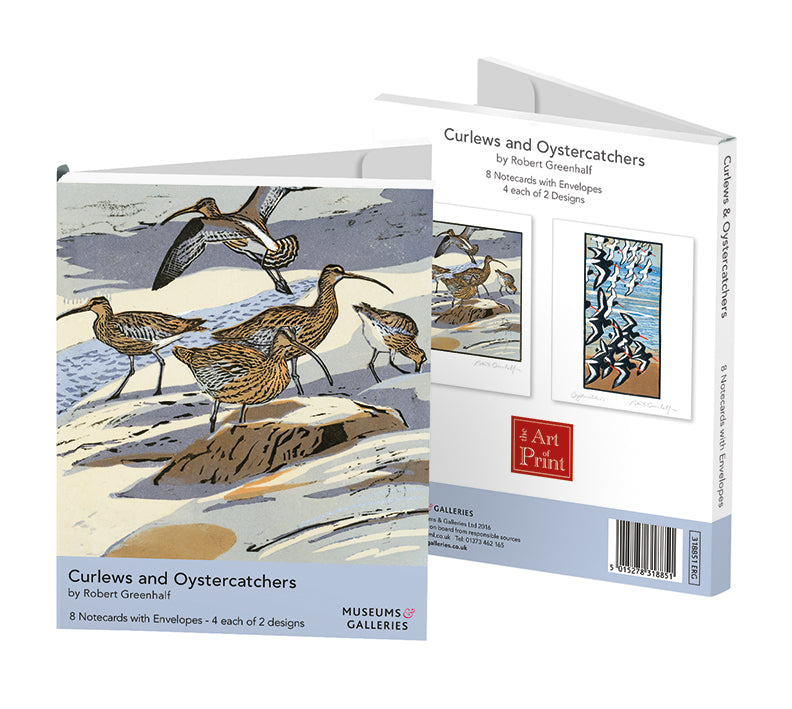Curlews & Oystercatchers Rectangle Notecard Wallet - Bee's Emporium