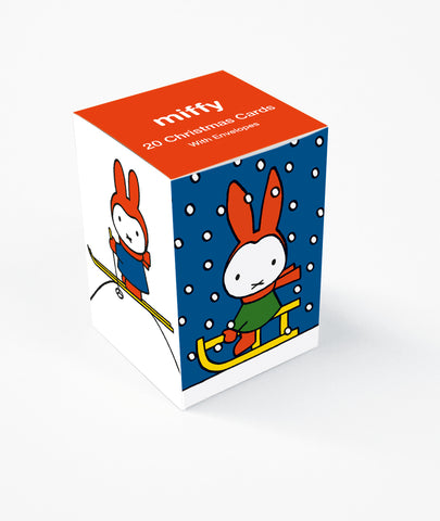 Miffy 20 Christmas Cards With Envelopes Cube