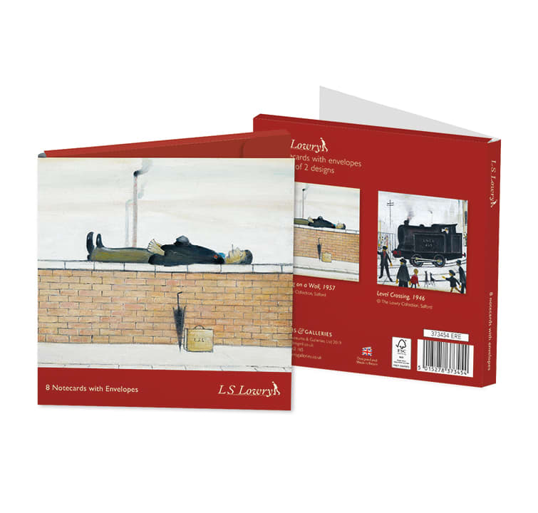 L.S Lowry 8 Notecards with Envelopes - 4 each of 2 Designs