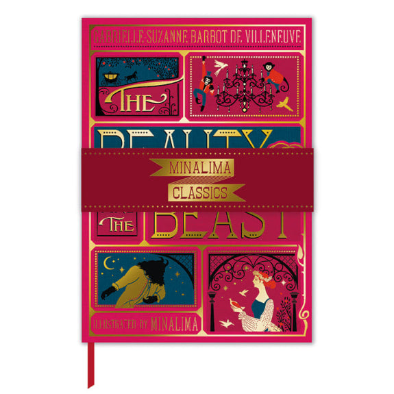 Musuems & Galleries Minalima Beauty and the Beast Deluxe Book Cover Journal