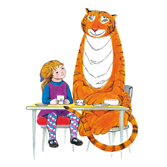 The Tiger Who Came to Tea - Sophie and Tiger Blank Greeting Card with Envelope