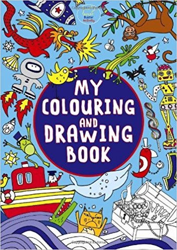 My Colouring And Drawing Book (Girls World) (Paperback) - Bee's Emporium