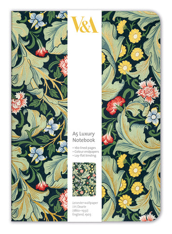 V&A Leicester Wallpaper A5 Luxury Notebook