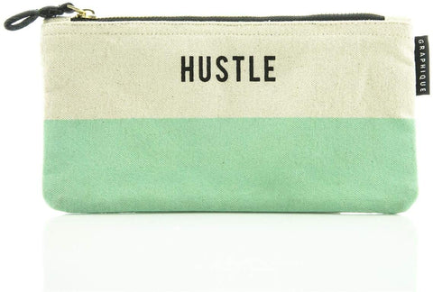 Hustle - Small Zip Pouch - Bee's Emporium