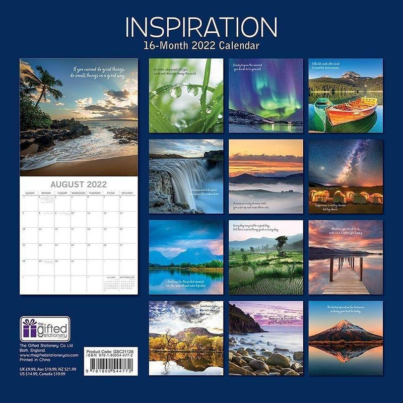 Inspiration 2021 - 16 Month Square Wall Calendar