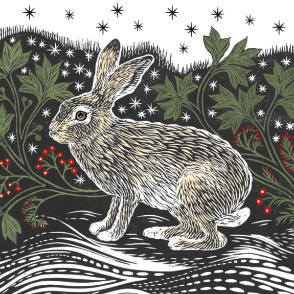 Starlight Hare Pack of 8 Charity Christmas Cards