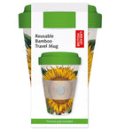 British Library Sunflower Reusable Bamboo Travel Mug - Bee's Emporium