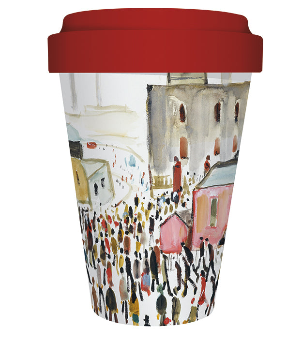 L.S. Lowry Going to Work Reusable Bamboo Travel Mug - Bee's Emporium