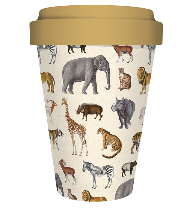 Natural History Museum Safari Reusable Bamboo Travel Mug - Bee's Emporium