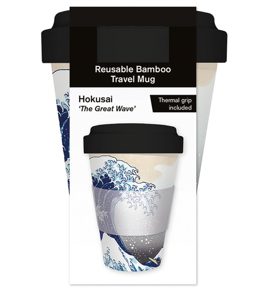 Hokusai 'The Great Wave' Reusable Bamboo Travel Mug