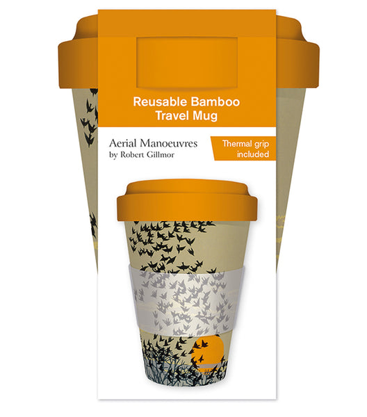 Robert Gilmor Aerial Manoeuvres Reusable Bamboo Travel Mug