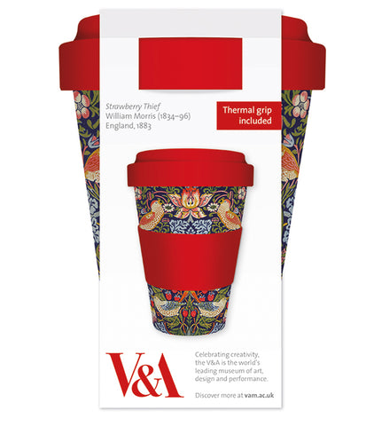 V&A Strawberry Thief Reusable Bamboo Travel Mug