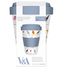 V&A Edward Lear Birds Reusable Bamboo Travel Mug