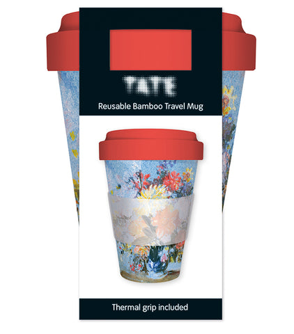 Tate: A Vase of Lilies, Dahlias and Other Reusable Bamboo Travel Mug - Bee's Emporium