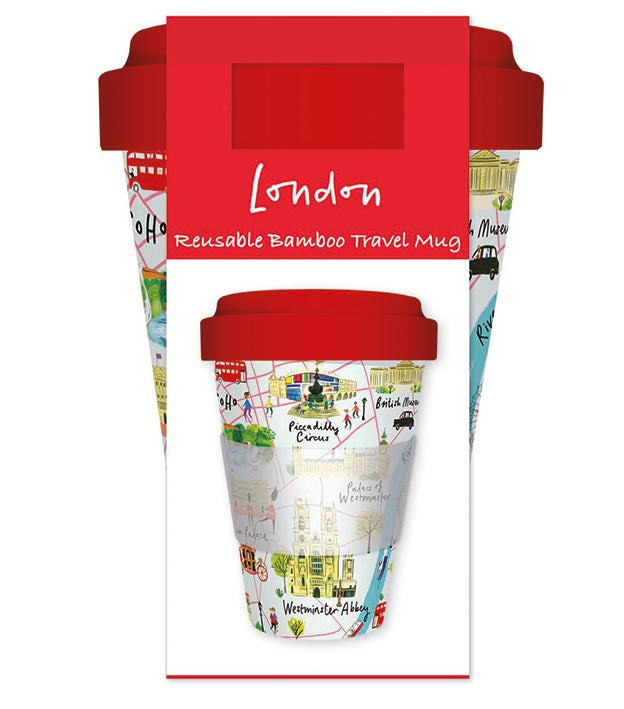 Westminster Abbey London Reusable Bamboo Travel Mug - Bee's Emporium