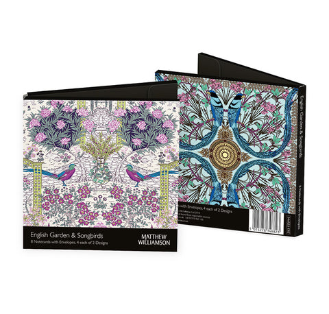 Matthew Williamson English Garden & Songbirds Notecards - Bee's Emporium