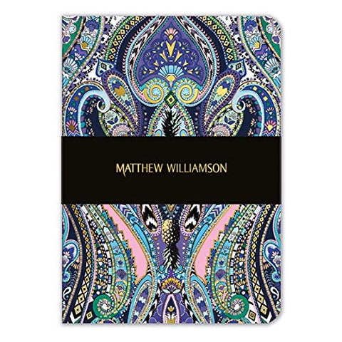 Matthew Williamson - Paisley Purple A5 Luxury Notebook
