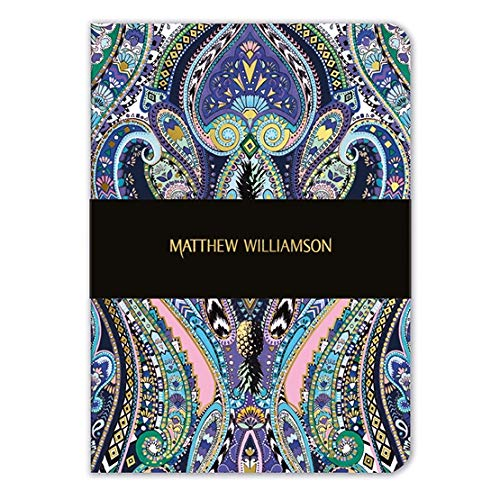 Matthew Williamson - Paisley Purple A5 Luxury Notebook - Bee's Emporium