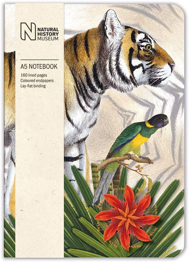 Natural History Museum Bengal Tiger A5 Luxury Notebook - Bee's Emporium