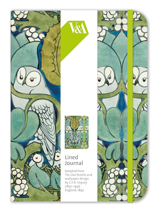 V&A Owls Lined Journal