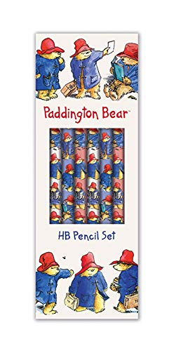 Paddington Bear Boxed Set of 6 HB Pencils with Eraser Tips