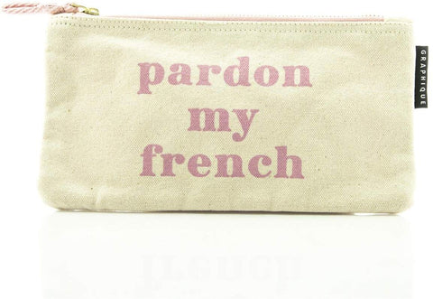 Pardon My French - Small Zip Pouch - Bee's Emporium