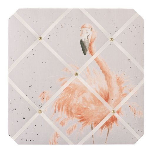 Wrendale Designs - Pretty in Pink Flamingo Fabric Notice Board