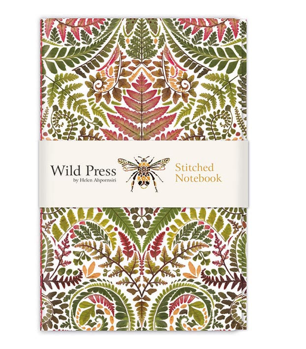 Wild Press Pteridomania Stitched Notebook - Bee's Emporium