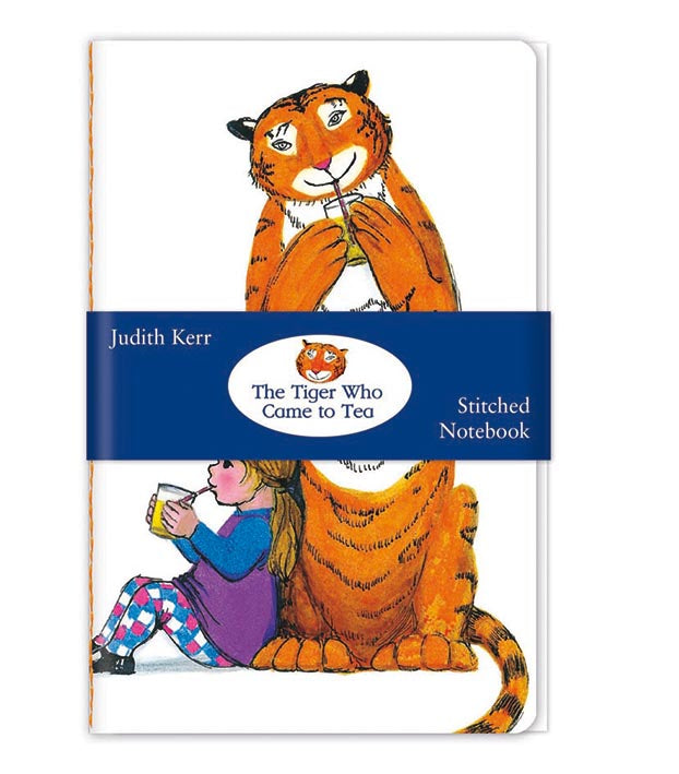 The Tiger Who Came to Tea - Tiger Drinking Stitched Notebook - Bee's Emporium