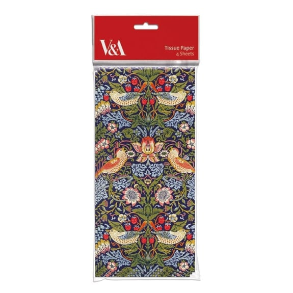 V&A Strawberry Thief Pack of 4 Sheets of Tissue Paper