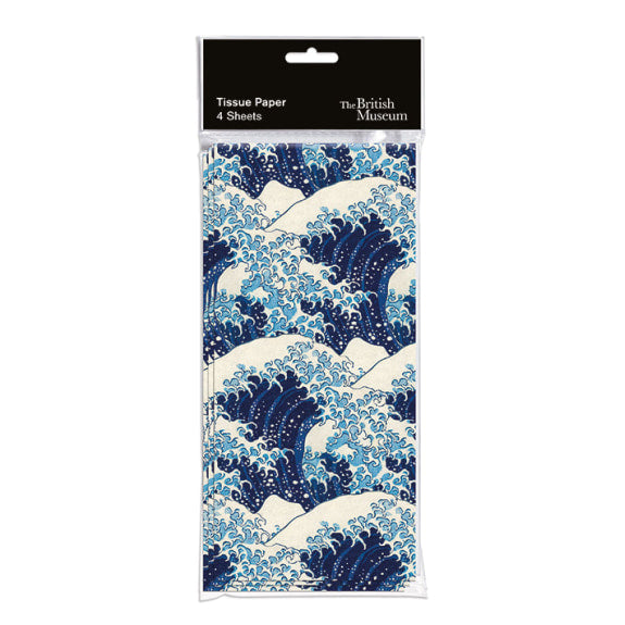 The British Museum Hokusai Wave Pack of 4 Sheets of Tissue Paper
