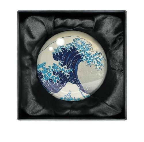 The British Museum - Hokusai Wave Crystal Dome Paperweight - Bee's Emporium