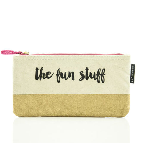 The Fun Stuff - Small Zip Pouch - Bee's Emporium